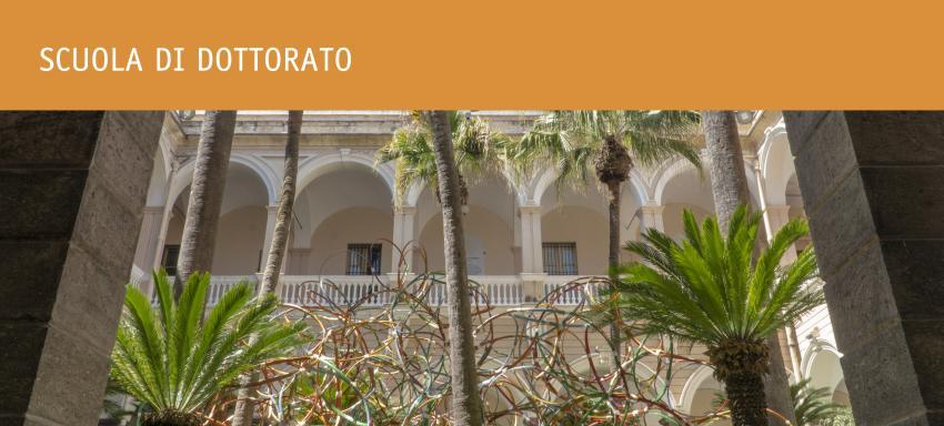 foto scuole di dottorato con primo piano su chiostro Ateneo