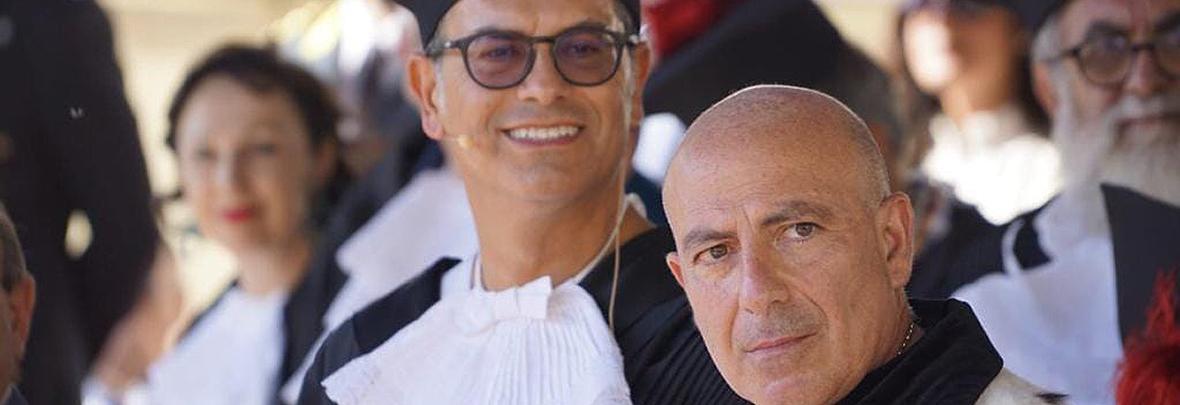 Flavio Manzoni e Massimo Carpinelli Laurea in PIazza 2019