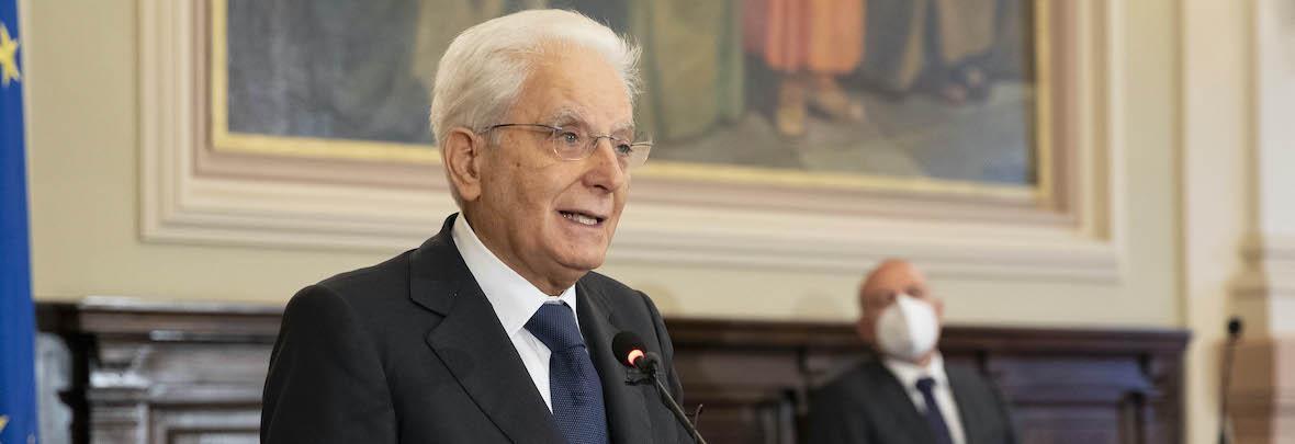 Presidente della Repubblica Sergio Mattarella e Rettore Massimo Carpinelli