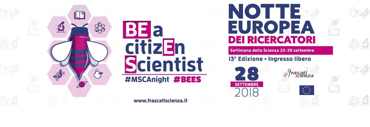 Immagine coordinata Notte europea dei ricercatori